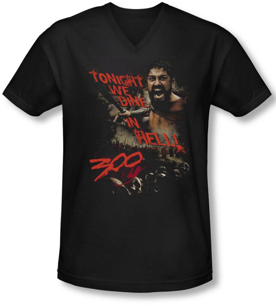 Image of 300 - Mens Dine In Hell V-Neck T-Shirt