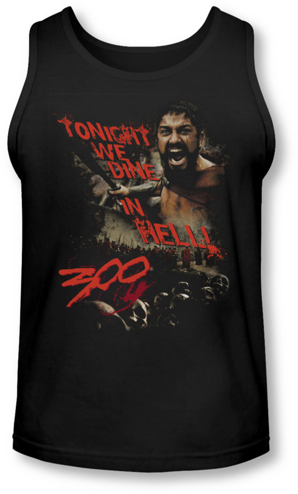 Image of 300 - Mens Dine In Hell Tank-Top