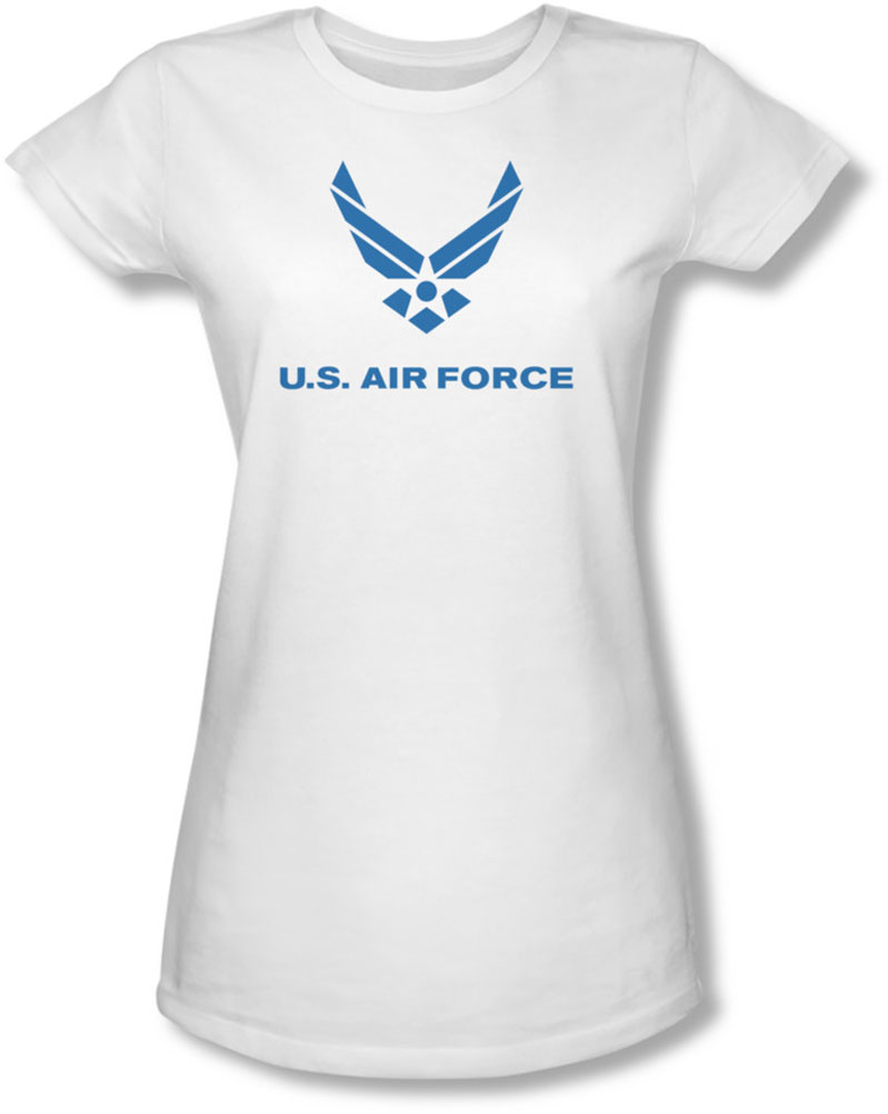 Image of Air Force - Juniors Distressed Logo Sheer T-Shirt