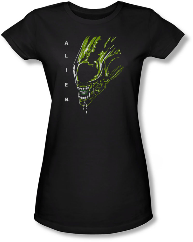 Image of Alien - Juniors Acid Drool Sheer T-Shirt