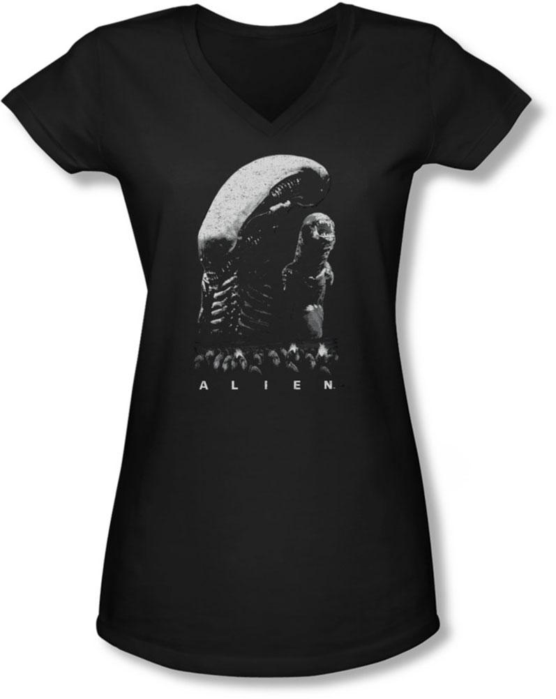 Image of Alien - Juniors Evolution V-Neck T-Shirt