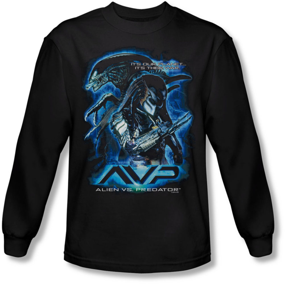 Image of Alein Vs Predator - Mens Their Way Longsleeve T-Shirt
