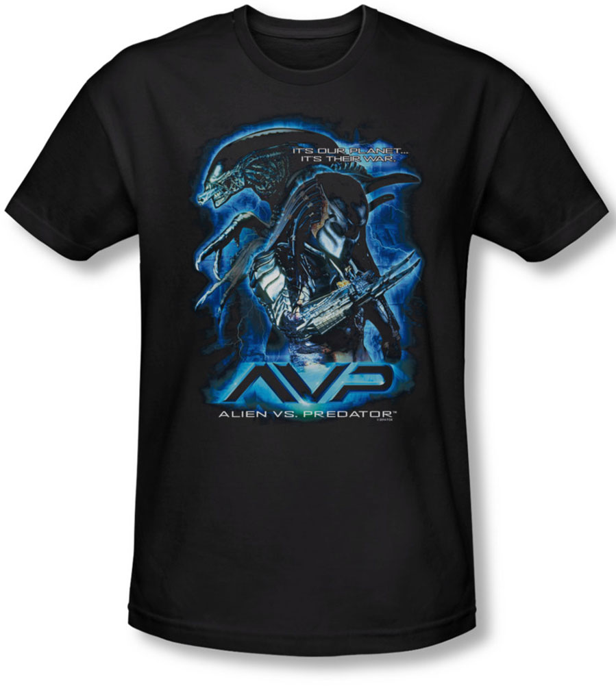 Image of Alein Vs Predator - Mens Their Way Slim Fit T-Shirt
