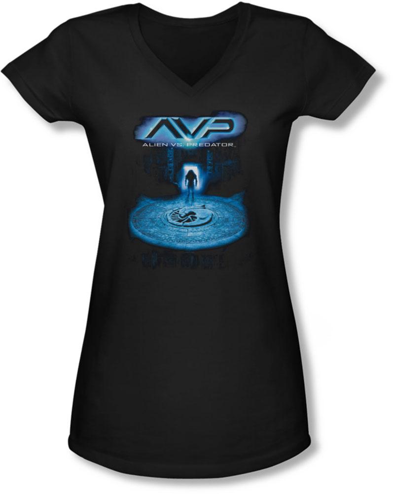 Image of Alien Vs Predator - Juniors Entrance V-Neck T-Shirt