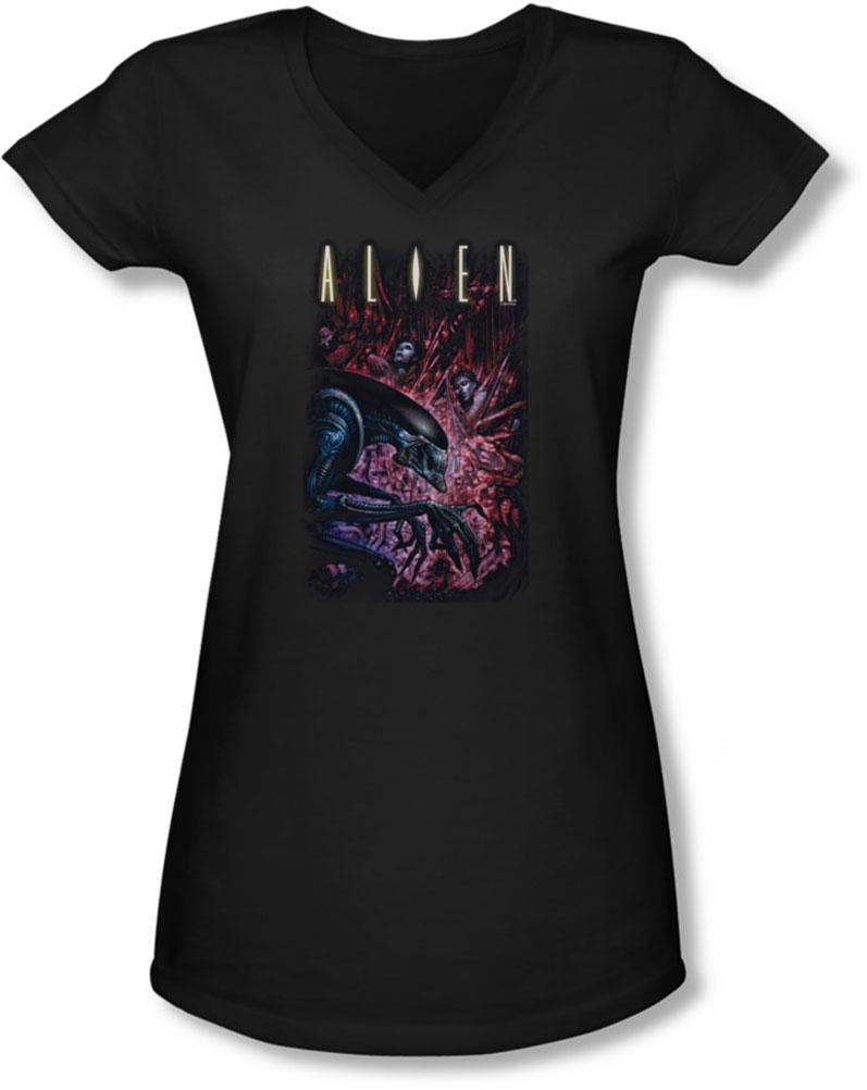 Image of Alien - Juniors Collection V-Neck T-Shirt