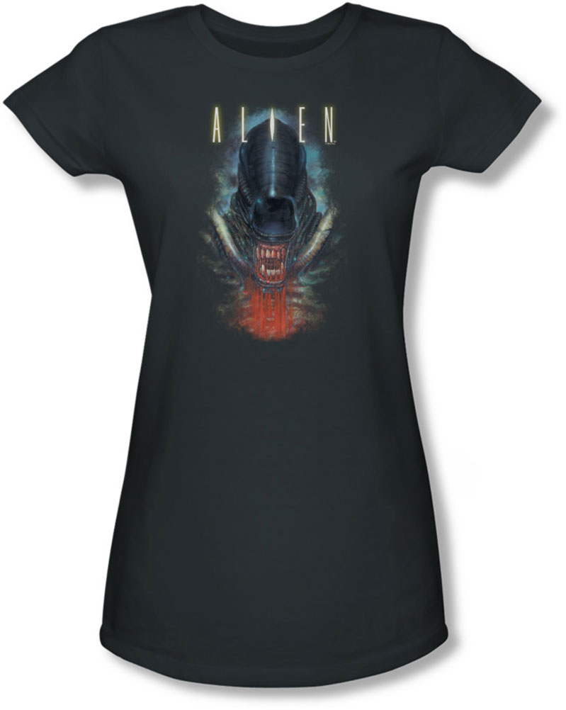 Image of Alien - Juniors Bloody Jaw Sheer T-Shirt