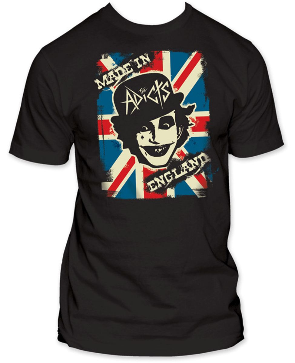 Image of Adicts - Made In England Fitted Jersey S/S T-Shirt in Black