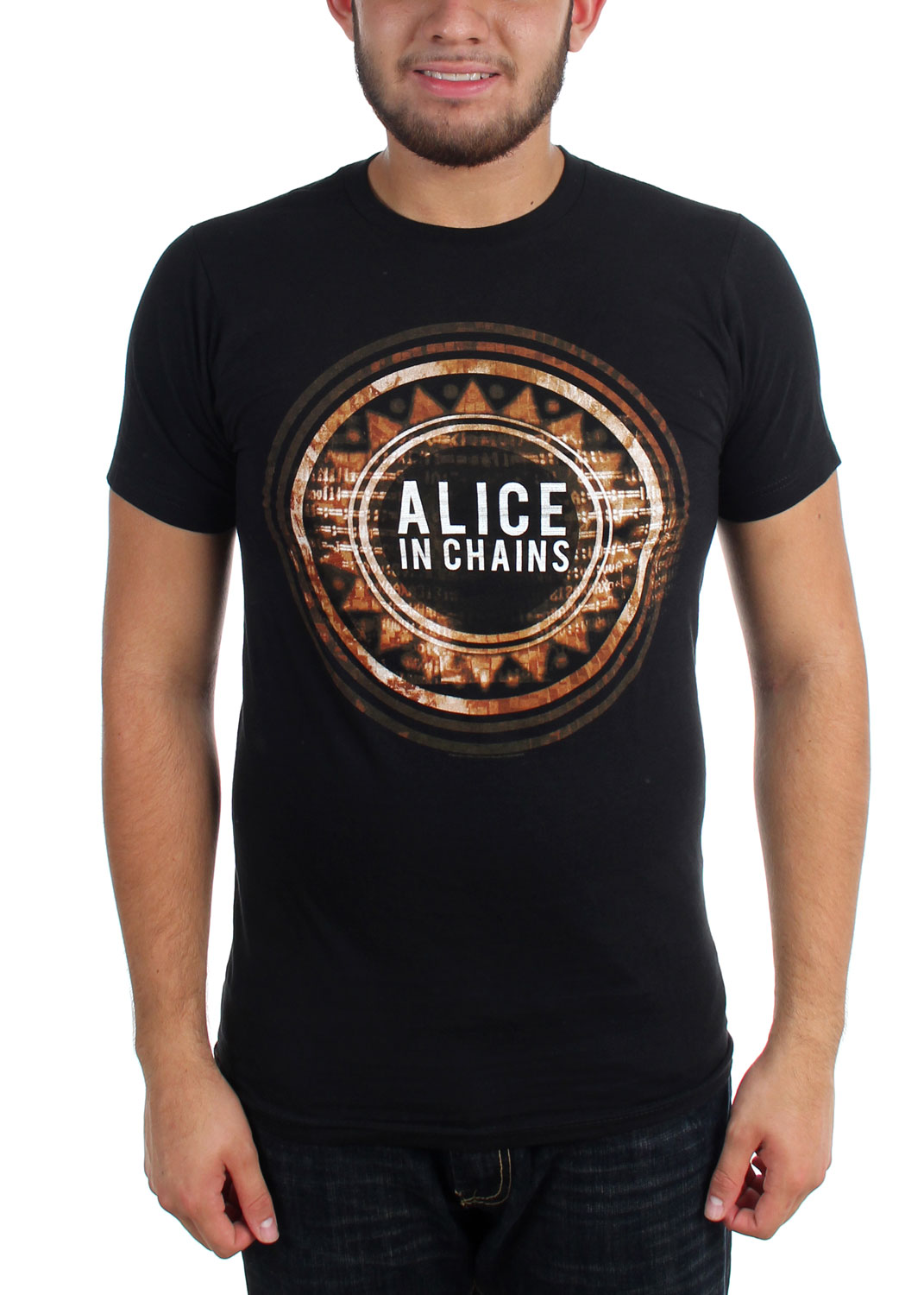 Image of Alice In Chains - Mens Circle T-Shirt