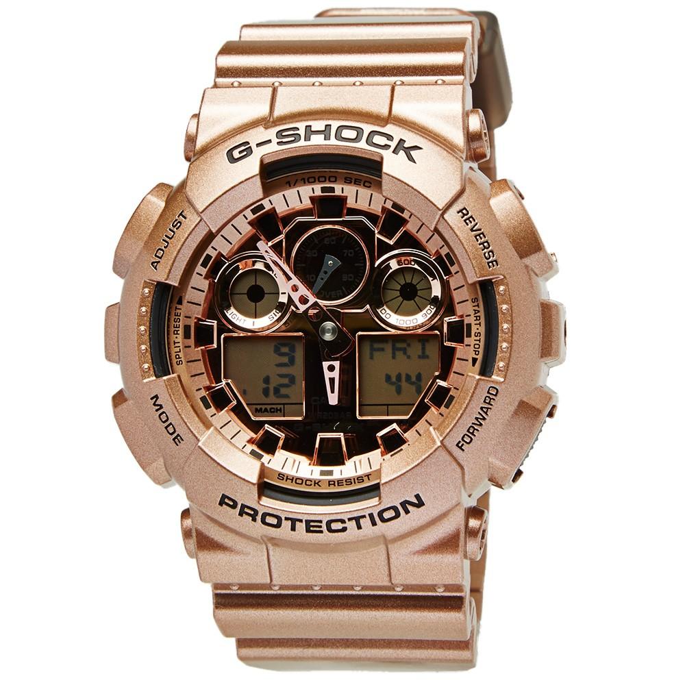 g shock ga100 rose gold watch. Black Bedroom Furniture Sets. Home Design Ideas