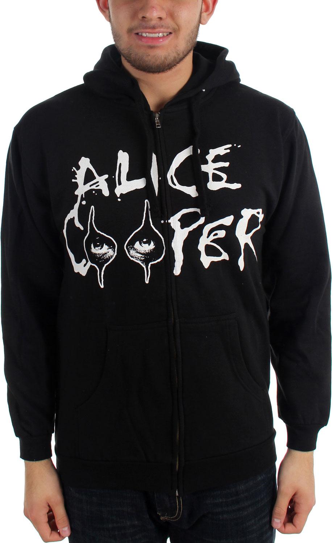 Image of Alice Cooper Eyes Logo Adult Zip Hoodie in Black