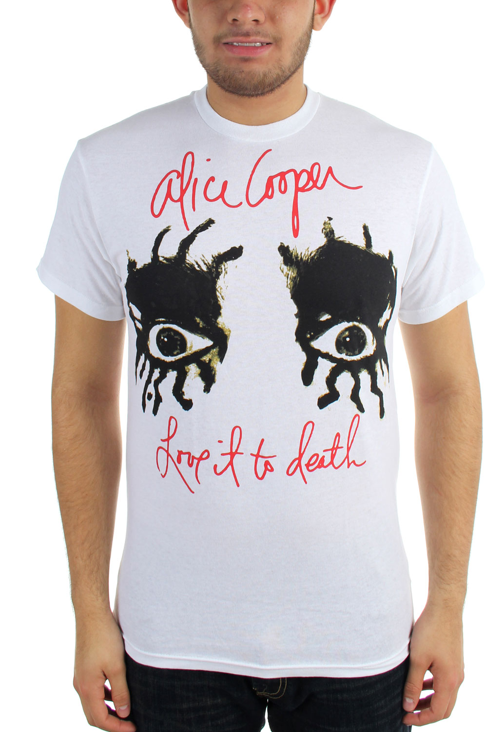 Image of Alice Cooper LITD Eyes Adult S/S Tee in White