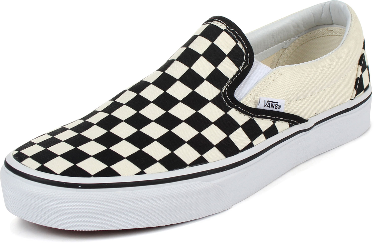 Shoes Slip Unisex Checkered Classic In Blackwhite Adult Vans On F1fTazv