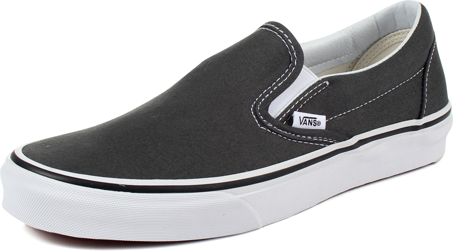 6f9c9eff205361 Vans - Unisex Adult Classic Slip-On Shoes In Charcoal