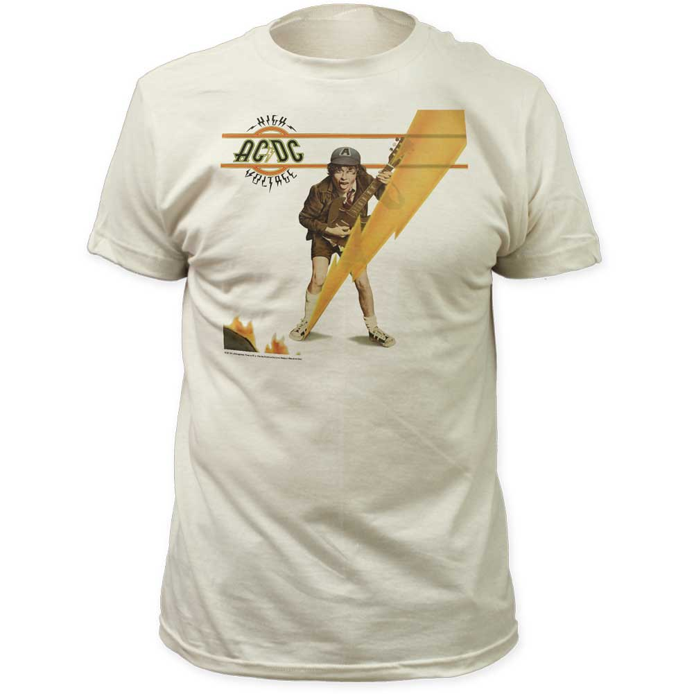 Image of AC/DC - Mens High Voltage Cover Fitted Jersey T-Shirt