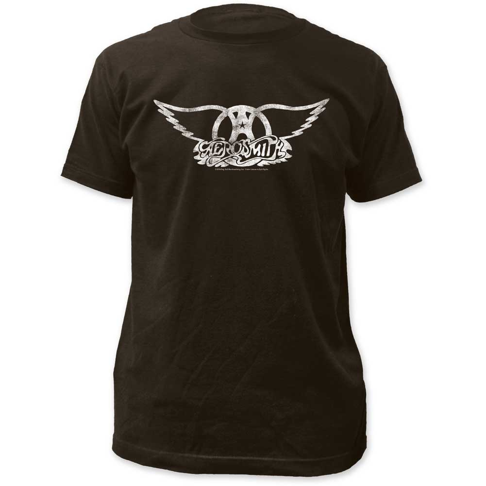 Image of Aerosmith - Mens Logo Fitted Jersey T-Shirt