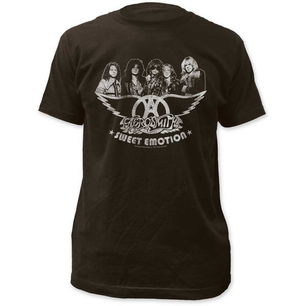 Image of Aerosmith - Mens Sweet Emotions Fitted Jersey T-Shirt