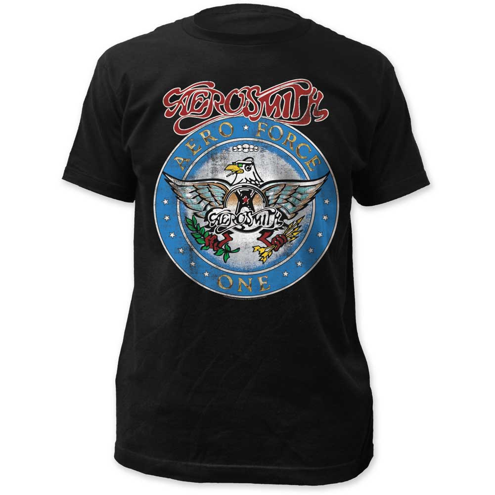 Image of Aerosmith - Mens Aero Force Fitted Jersey T-Shirt