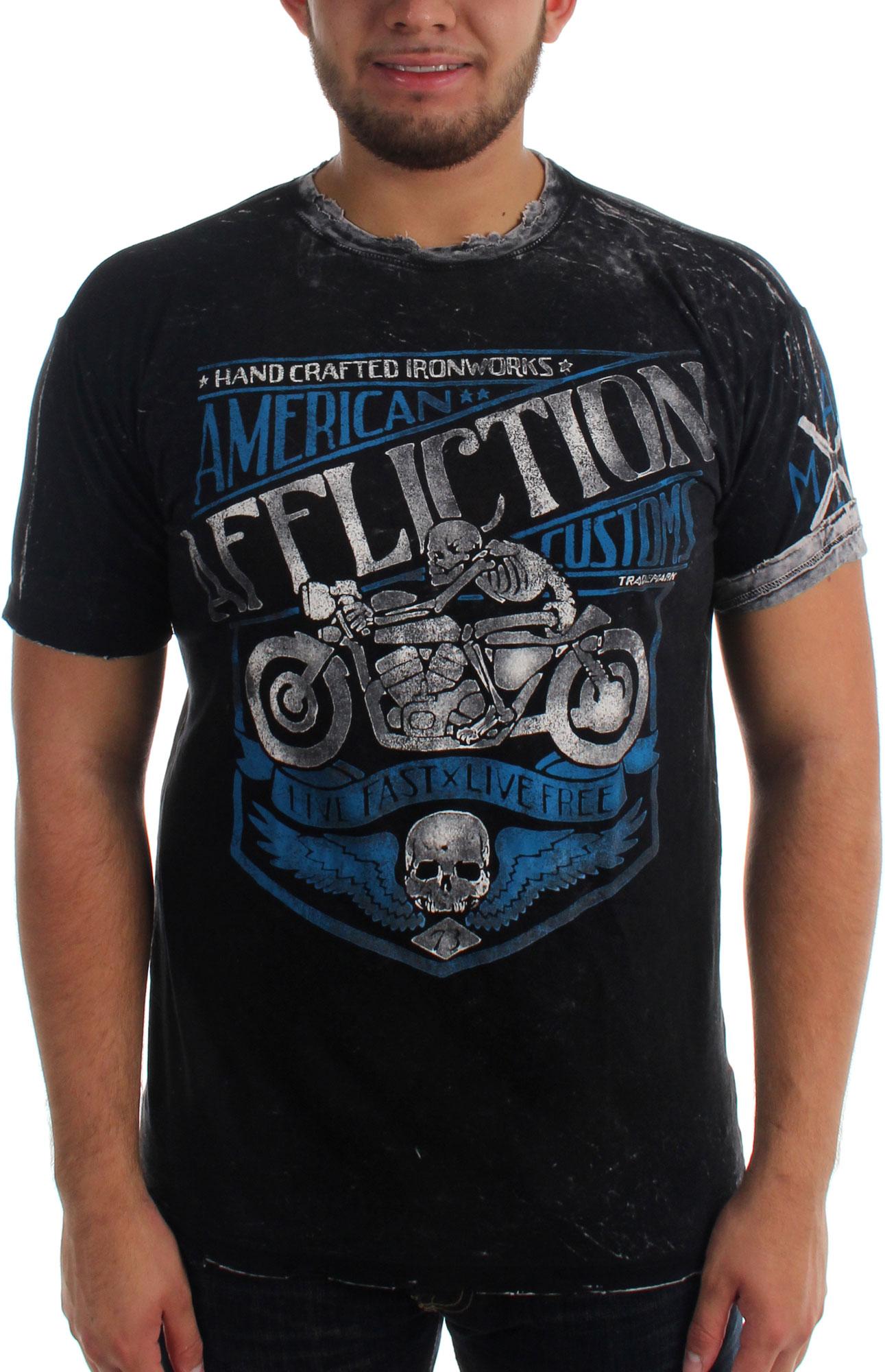 Affliction Mens Motor Oil T Shirt