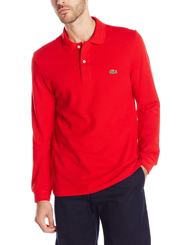 6785df67 Lacoste - Mens L1312 Long Sleeve Classic Pique Polo Shirt