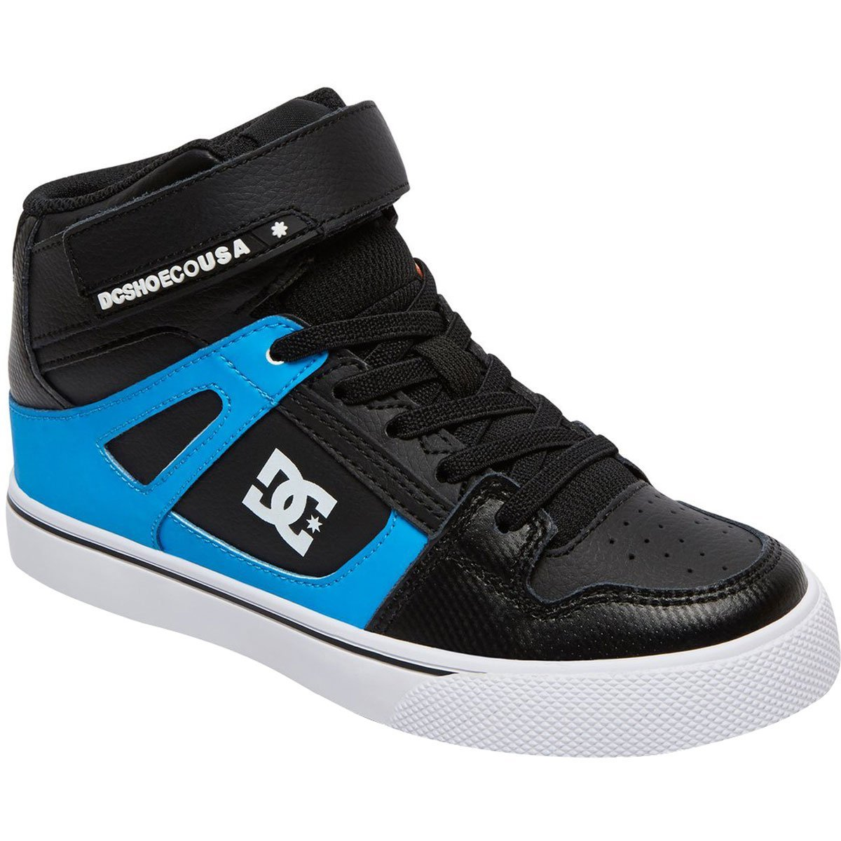 DC Pure High Top EV Youth Shoe Blue//Black//Red