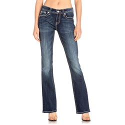 Miss Me - Womens M3473B Cross Embellised Bootcut Jeans