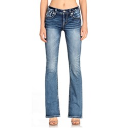 Miss Me - Womens M5082B87 Sequins Angel Wing Bootcut Jeans