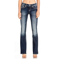 Miss Me - Womens M3482B Feather Wing Bootcut Jeans