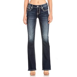 Miss Me - Womens M5014B315 Mixed Heavy Stitch Bootcut Jeans