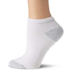 Fruit of the Loom - Womens Grey Heel and Cut Socks