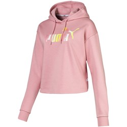 PUMA - Womens Elevated E Logo Cropped Hoody