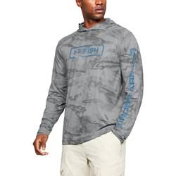 Under Armour - Mens Isochill Shore Break Camo Long-Sleeves T-Shirt