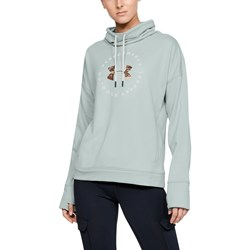 Under Armour - Womens Terry Graphic Funnel Neck Fleece Top