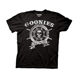The Goonies - Captain's Wheel Adult T-shirt in Black