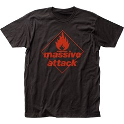 Massive Attack Mens Blue Lines Fitted Jersey T-Shirt