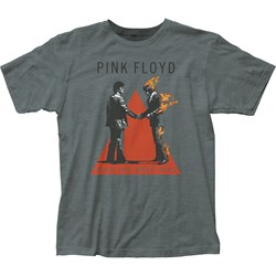 Pink Floyd Mens Handshake Fitted Jersey T-Shirt