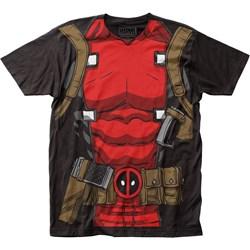 Deadpool Mens Muscle Suit Big Print Subway T-Shirt
