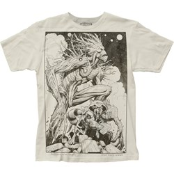 Guardians Of The Galaxy Mens Groot & Rocket Sketch Big Print Subway T-Shirt