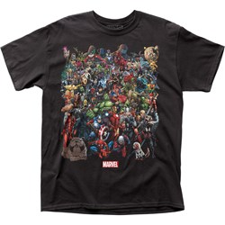 Marvel Universe Mensmarvel Comics  Adult T-Shirt