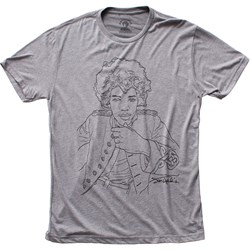 Jimi Hendrix - Mens Line Art Fitted Tri-Blend T-Shirt