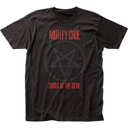 Mötley Crüe - Mens Shout At The Devil Fitted Jersey T-Shirt