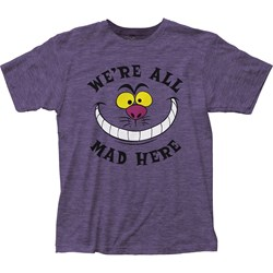 Alice In Wonderland - Mens All Mad Here Fitted Jersey T-Shirt