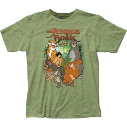 The Jungle Book - Mens Main Characters Fitted Jersey T-Shirt