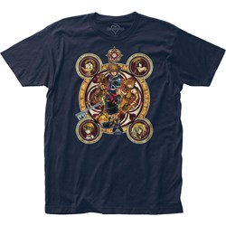 Kingdom Hearts - Mens Character Circles Fitted Jersey T-Shirt
