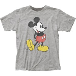 Mickey Mouse - Mens Pose Fitted Jersey T-Shirt