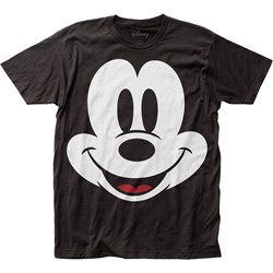 Mickey Mouse - Mens Face Big Print Subway T-Shirt