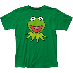 The Muppets - Mens Kermit Face Fitted Jersey T-Shirt