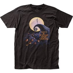 The Nightmare Before Christmas - Mens Poster Fitted Jersey T-Shirt