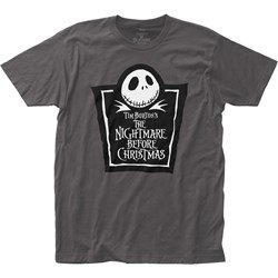 The Nightmare Before Christmas - Mens Tombstone Logo Fitted Jersey T-Shirt