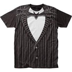 The Nightmare Before Christmas - Mens Jack Skellington Big Print Subway T-Shirt