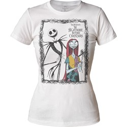 The Nightmare Before Christmas - Womens Jack & Sally Juniors T-Shirt
